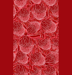 red torch ginger seamless pattern vector image