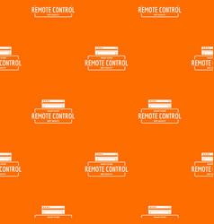 remote control pattern orange vector image