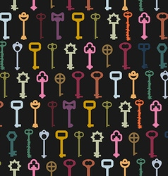Retro key seamless background Old colorful key vector