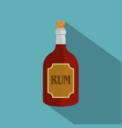 Rum icon flat style vector
