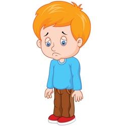 sad boy vector image