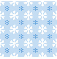 seamless light pattern with snowflakes on blue vector image