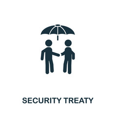 Security treaty icon symbol creative sign from vector