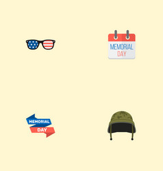 set of day icons flat style symbols with banner vector image