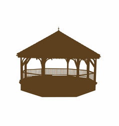 Silhouette of a bandstand vector