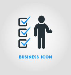 simple business icon of businessman with vector image