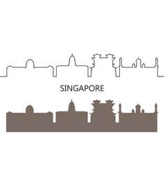 singapore vector image
