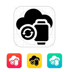 Smart watches sync with cloud icon vector