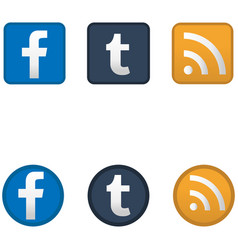 social media icons vector image