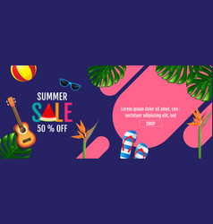 summer sale layout design colorful trendy vector image