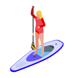 Sup surf icon isometric style vector