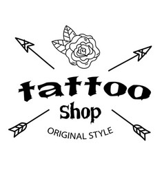 tattoo shop arrow flower background image vector image