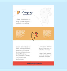 template layout for turkey comany profile annual vector image