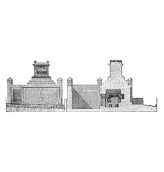 Tomb of naevoleia tyche at pompeii vintage vector