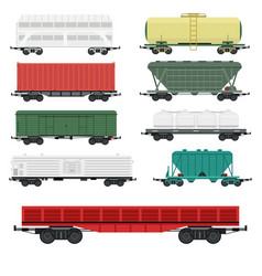 train carriages car railway without striping vector image