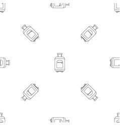 travel summer bag pattern seamless vector image