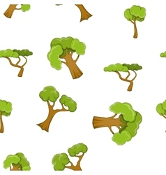 Trees pattern cartoon style vector image