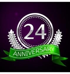 Twenty four years anniversary celebration with vector