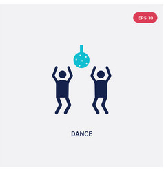 two color dance icon from entertainment and vector image