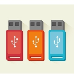 USB portable device storage vector image