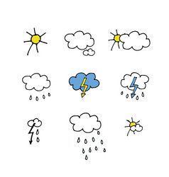 weather forecast icons set for your design vector image