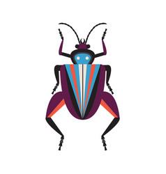 Weird frog legged exotic bug flat icon vector