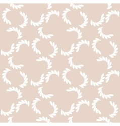 White branches on beige seamless pattern vector image vector image
