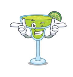 wink margarita character cartoon style vector image