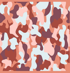 camouflage seamless pattern in a brown blue pink vector image