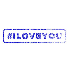 hashtag iloveyou rubber stamp vector image vector image