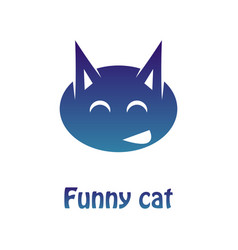 image of a multi-colored logotype of a merry cat vector image vector image