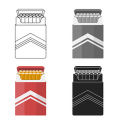 pack of cigarettes icon in cartoon style isolated vector image