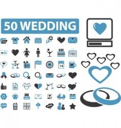 wedding signs vector image vector image