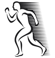 abstract runner vector image vector image