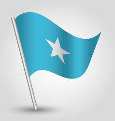 flag somalia vector image vector image