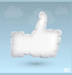 like cloud vector image vector image