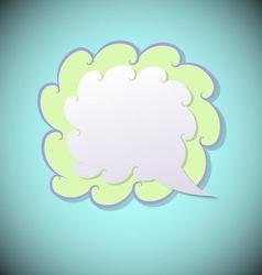 Retro speech bubble on blue background vector image vector image