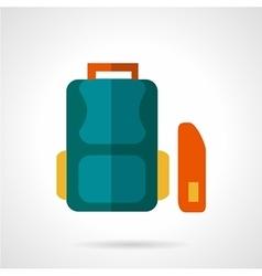 School bag flat icon vector image vector image
