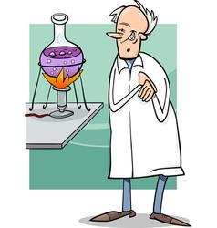 scientist in laboratory cartoon vector image