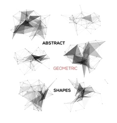 Set of abstract geometric shapes vector