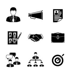 Set of Head Hunter icons - handshake resume vector image