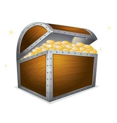 Treasure box vector image vector image