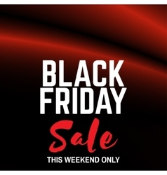 Black friday sale Red waves on the black vector image