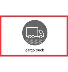 Delivery transport contour outline vector image