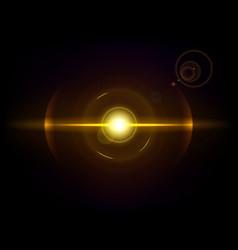 gold space explosion cosmos burst vector image vector image