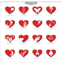Heart icons set2 vector