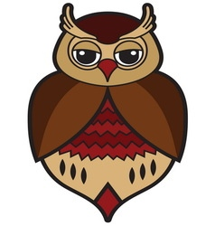 Owl icon4 resize vector image vector image