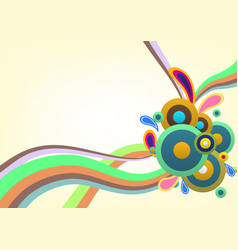 abstract colorful decorative template background vector image vector image