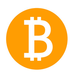 bitcoin icon for internet money crypto currency vector image