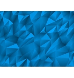 Blue abstract low-poly triangular background vector image vector image